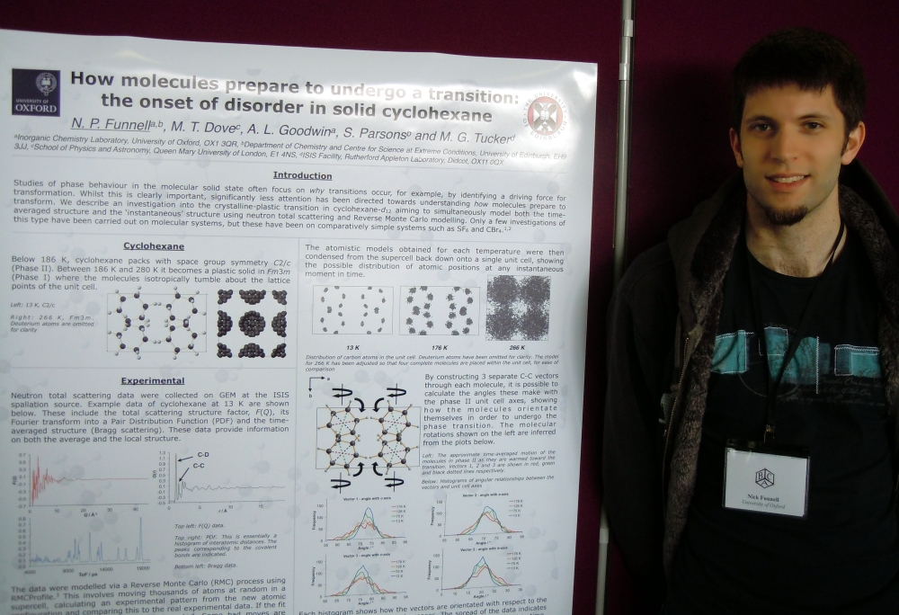 Nick with his prize-winning poster