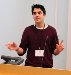 Karim speaks to the Young Crystallographers